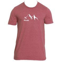 Moab, Utah Mountain Range - Men's T-Shirt