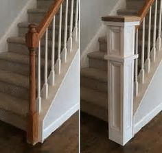 Create a Classic Staircase Newel Post home renovation Home Upgrades, Staircase Remodel, Staircase Makeover, Fireplace Remodel, Style Deco, Diy Home Improvement, New Wall, Home Projects, Home Remodeling