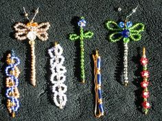 seed bead bobby pins