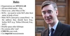 Jacob Rees-Mogg bans staff from using word 'equal' in bizarre new rules Jacob Rees Mogg, Social Topics, Miss And Ms, Friday Pictures, Double Space, Send In The Clowns, House Of Commons, Grammar Rules, Boris Johnson