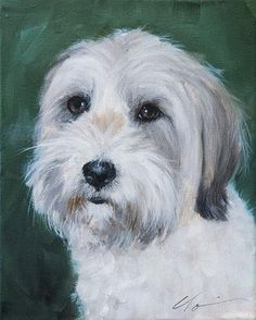 "Daily Paintworks - ""PAINT MY DOG! Series #24"" - Original Fine Art for Sale - © Clair Hartmann"