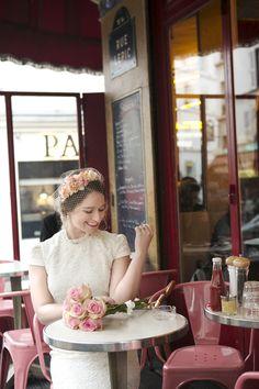 An Elopement Wedding in Paris #theeverygirl #TEGweddingweek #bridal fashion #short dress