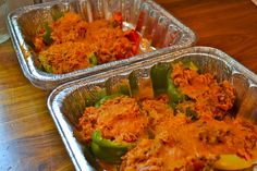 freezer meal - stuffed peppers