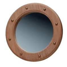 Whitecap Teak Porthole Mirror