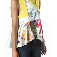 Yellow top designed by Mademoiselle Hecy, My Souk In The City