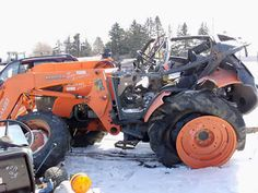 Kubota M9540 tractor salvaged for used parts. This unit is available at All States Ag Parts in Black Creek, WI. Call 877-530-2010 parts. Unit ID#: EQ-23635. The photo depicts the equipment in the condition it arrived at our salvage yard. Parts shown may or may not still be available. http://www.TractorPartsASAP.com