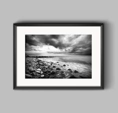 Coastal Storm a fine art black and white print - #landscapephotography #photography #seascape #wallart #walldecor #walldecoration #homedecor #interiordesign #buyonline