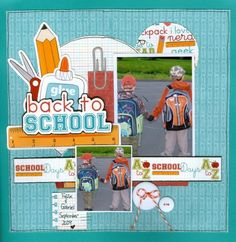 school scrapbook layouts | ... Scrapbook.com - Wonderful back to school page. #scrapbooking #layout #