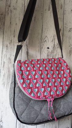 Zirkeltasche farbenmix Messenger Bag, Satchel, Sling Bags, Handbags, Purses, Weekender, Sewing, Diy, Fabric Purses