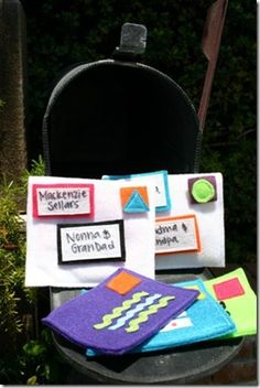 Fun way to teach little ones about how to mail letters.