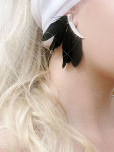 Black Feathers Earring by DREAMS_OF_NORWAY.