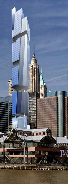 80 South Street Tower, New York City by Morali Architects :: 74 floors, height 310m :: proposed