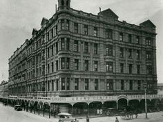 Grand Central Hotel at the corner of Rundle and Pulteney Streets,Adelaide in South Australia (year unknown). Adelaide Sa, Adelaide South Australia, Old Pictures, Old Photos, Australian Continent, Vintage Architecture, Largest Countries, Local History, Small Island