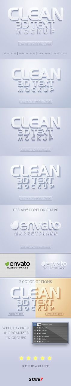 3D Text Mockup — Layered PSD #3d mockuo #realistic text effect • Available here → https://graphicriver.net/item/3d-text-mockup/20619579?ref=pxcr