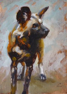 african wild dog sculptures | african wild dog by vampirehungerstrike traditional art paintings ...
