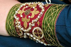 Medieval embroidery reproduction