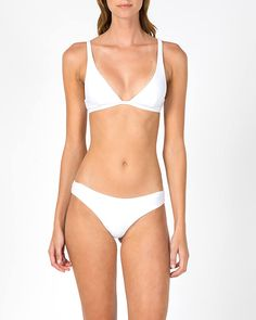 Ava Top & Lana Pant Optical White - swimwear - WOMENS Assembly Label