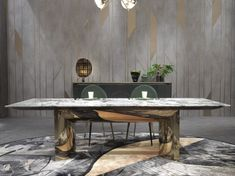 Modern Dining Tables present you marble dining table designs by luxury brands and well-known interior designers. Luxury Dining Tables, Luxury Dining Room, Dining Table Design, Contemporary Dining Table, Modern Table, Interior Design Institute, Esstisch Design, Interior Design Inspiration, Design Ideas