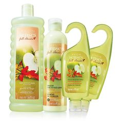 Avon Avon Senses Fresh Orchard Apple Collection   A refreshing burst of green apple with sparkling pear and fragrant lily of the valley.