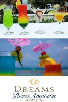 The drinks are always flowing at Dreams Puerto Aventuras Resort and Spa!