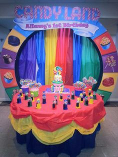 "Candyland theme V.Photo 1 of Candy, Candyland, Candy Land / Birthday ""Alianny's birthday @ Candyland"" Birthday Candy, 1st Birthday Parties, Birthday Party Decorations, 23rd Birthday, Birthday Diy, Birthday Ideas, Candy Land Theme, Hansel Y Gretel, Fiestas Party"