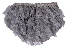 Lace Diaper Cover Baby Bloomer - Gray