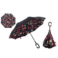 Reverse Windproof Double Layer Inverted Umbrella With C-Hook Handle – Big Star Trading Store