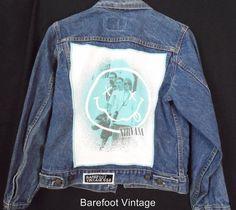 BAREFOOT VINTAGE ORIGINAL NIRVANA YOUTH sz18 LEVI'S JEAN JACKET #LEVIS #JEANROCK