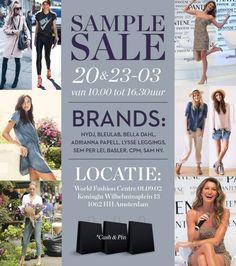 Multi-brand sample sale in WFC -- Amsterdam -- 20/03-23/03