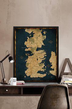 Spiel der Throne Westeros Westeros Karte Spiel der von iPrintPoster