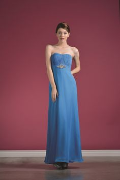 Modest Elegant Long Blue Mother of the Bride Dress Formal Sale