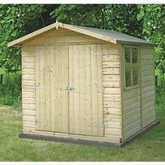 Good quality Kiln dried Nothern Hemisphere tongue & groove timber used throughout with the added benefit of being pressure treated Wooden Storage Sheds, Storage Sheds For Sale, Outdoor Storage Sheds, Wooden Sheds, Small Garden Sheds Uk, Garden Shed Kits, Garden Storage Shed, Shiplap Sheds, Resin Sheds
