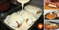 Výborný tip na slávnostný obed, ale aj chutné jedlo na bežný deň. Mäsko stačí naplniť, obaliť a zaliať smotanovou omáčkou. Potom šup do rúry a perfektný obed pre celú rodinu je na svete! No Salt Recipes, Pork Recipes, Chicken Recipes, Cooking Recipes, Czech Recipes, Ethnic Recipes, Eastern European Recipes, Food 52, How To Cook Chicken