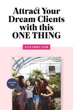 How to attract your absolute dream clients for your small business by doing this ONE THING! #AttractClients #SmallBusiness