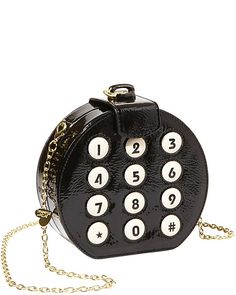 ROUND DIAL CLUTCH - Answer the call of weekend fun with this cute little crossbody clutch.