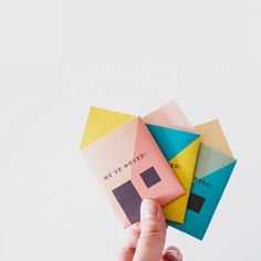 Pocket sized moving announcements / house warming invites! These mini cards are fun and easy to make.