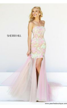 2014 Pink High low Sherri Hill 11110 Prom DressOutlet