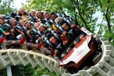 riding rollercoaster