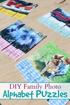 These alphabet family photo puzzles really motivated my kiddo to learn his letters and problem solve, even as a very active child. Alphabet For Kids, Alphabet Activities, Reading Activities, Activities For Kids, Indoor Activities, Learning Games For Kids, 100 Fun, Special Education Classroom, Animation
