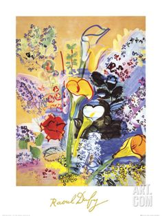 Bouquet d'Arums Print by Raoul Dufy at Art.com