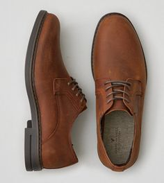 Medium Brown AEO Leather Oxford