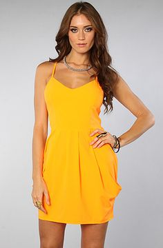 $34 The Beach Party Dress in Citrus by *LA Boutique - Use repcode SMARTCANUCKS for 10-20% off on #karmaloop - http://www.lovekarmaloop.com