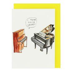 Grand piano Valentine's card