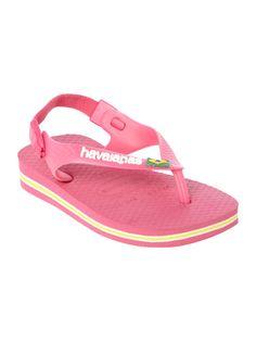 Havaianas Girls Brazil print flip flop, Candy Pink