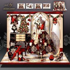 Christmas Dressing Room Card Mini Kit on Craftsuprint designed by Atlic Snezana…