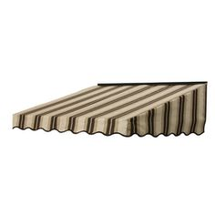 NuImage Awnings�3-ft 10-in Wide x 3-ft 5-in Projection Chocolate Chip Fancy Striped Slope Door Awning
