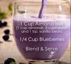 Bebida de bluberries...habrá que hacerla!
