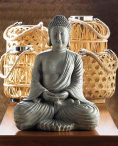 Description Take a quiet moment to reflect on all that's good and stylish in your life with this meditating Buddha statue. This peaceful Buddha is the perfect addition to your Zen space. Item weight: Item dimensions: W x H x L Materials: Polyresin Meditating Buddha Statue, Buddha Statue Home, Sitting Buddha, Buddha Meditation, Daily Meditation, Meditation Quotes, Buddha Statues, Meditation Room Decor, Meditation Space