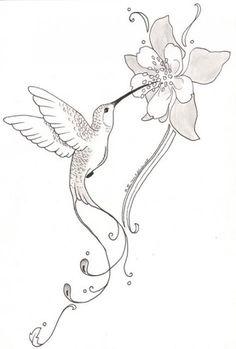 Bild Tattoos, Body Art Tattoos, New Tattoos, Small Tattoos, Tatoos, Hummingbird Flower Tattoos, Hummingbird Drawing, Tattoo Bird, Hummingbird Tattoo Meaning