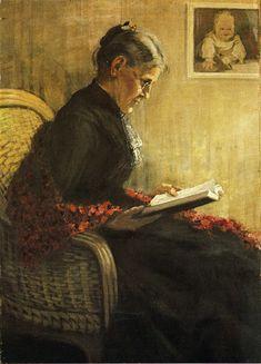 Portrait of the Artist's Mother, 1902  Franz Marc
